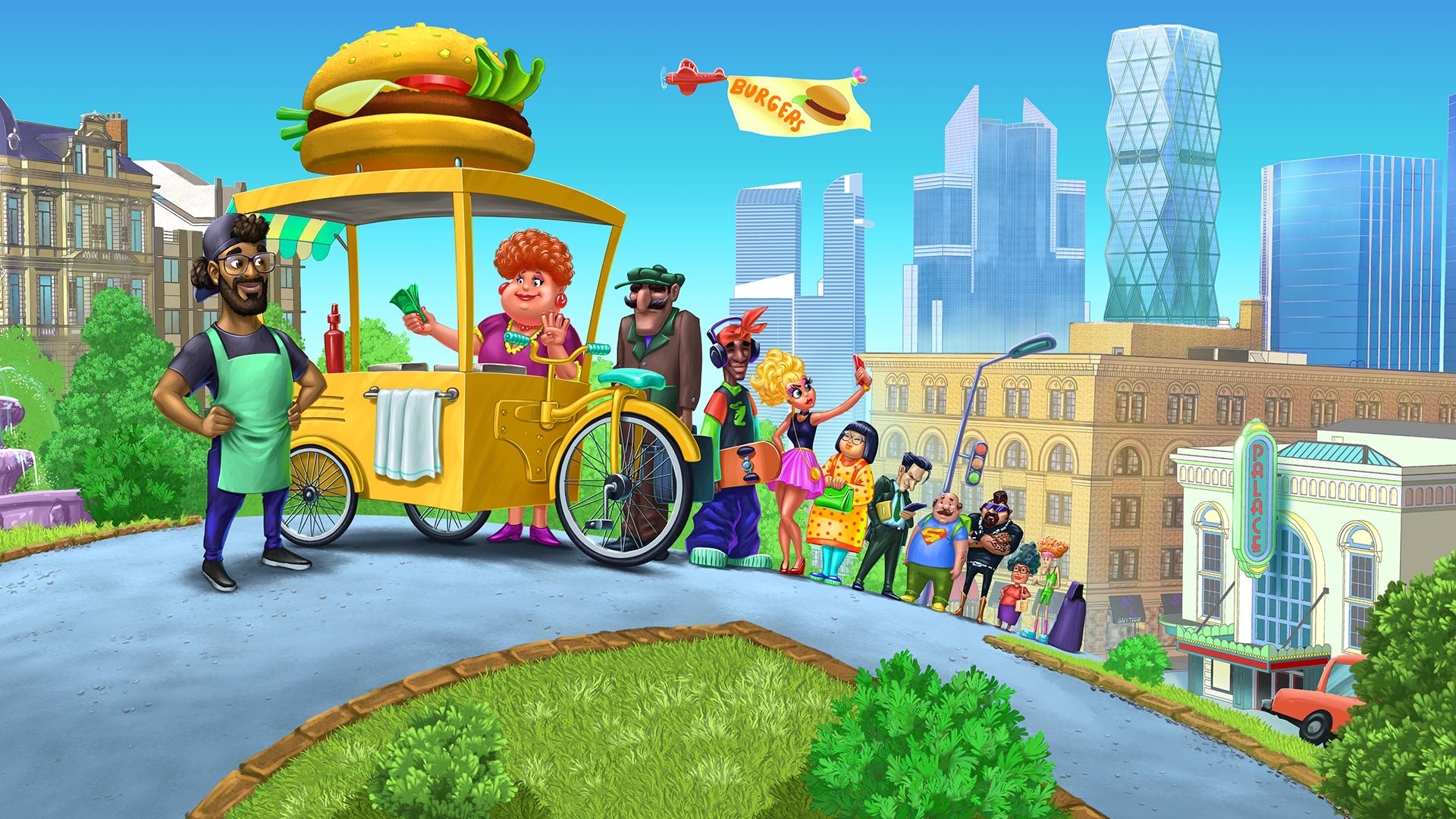 Long Burger Queue Business Heroes Food Truck Simulation